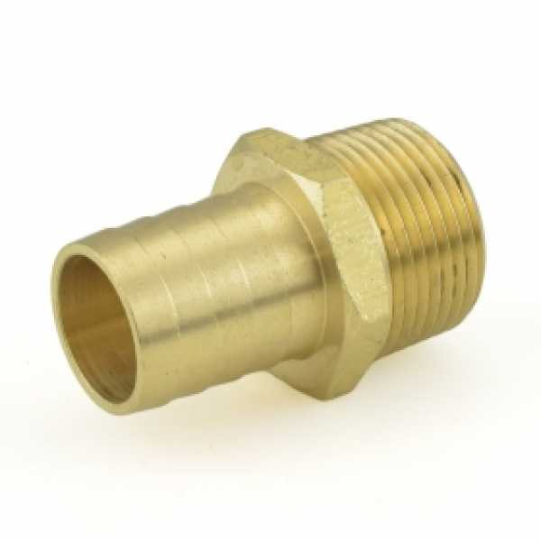"1"" Hose Barb x 1"" MIP Brass Adapter"