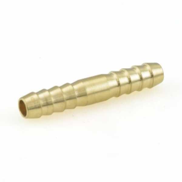 """1/4"""" Hose Barb Brass Splicer"""