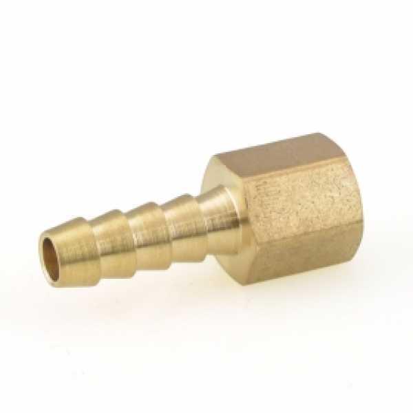 "1/4"" Hose Barb x 1/8"" Female Threaded Adapter, Brass"