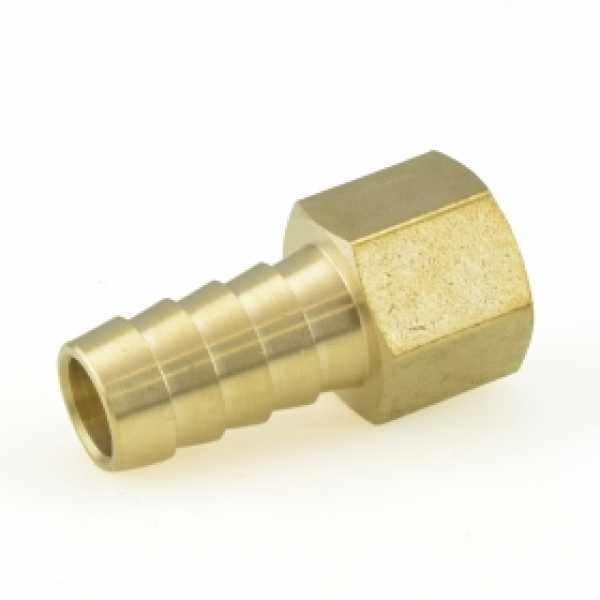 "1/2"" Hose Barb x 3/8"" Female Threaded Adapter, Brass"