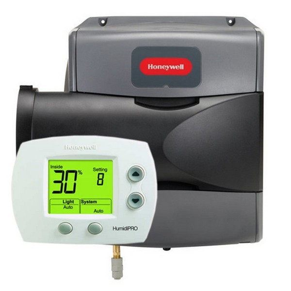 Honeywell HE100A1000 Evaporative Flow-Through Humidifier, 12 gal. per day