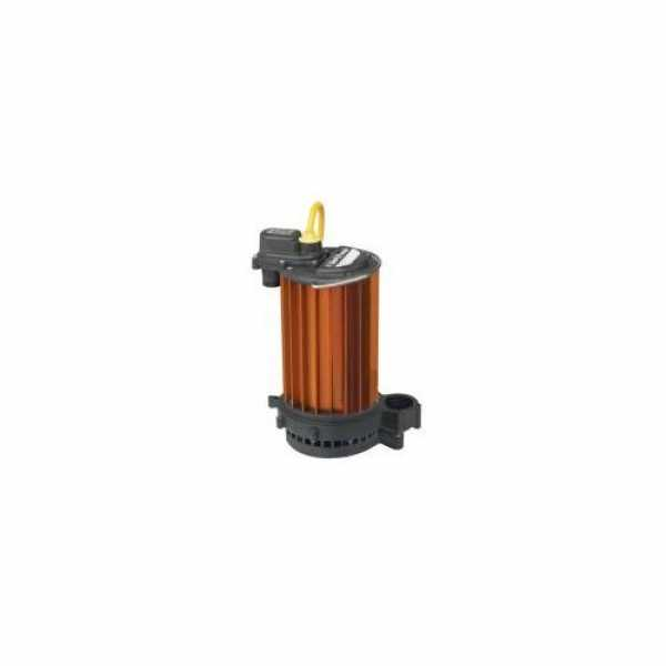 High Temperature Submersible Sump Pump 1/2HP, 115V, 25' cord, Aluminum