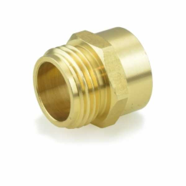 "3/4"" MGH x 3/4"" FIP Brass Adapter, Lead-Free"