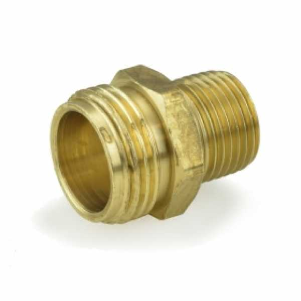 "3/4"" MGH x 1/2"" MIP Brass Adapter, Lead-Free"