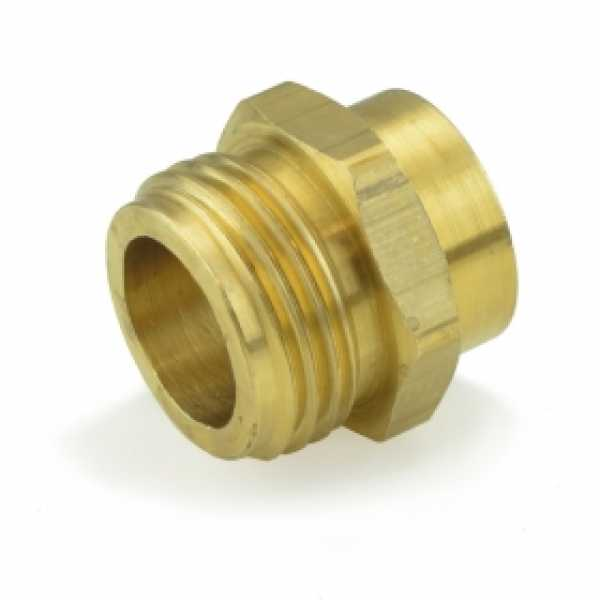 "3/4"" MGH x 1/2"" FIP Brass Adapter, Lead-Free"