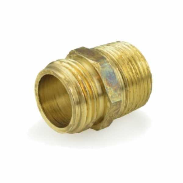 "3/4"" MGH x 3/4"" MIP Brass Adapter, Lead-Free"