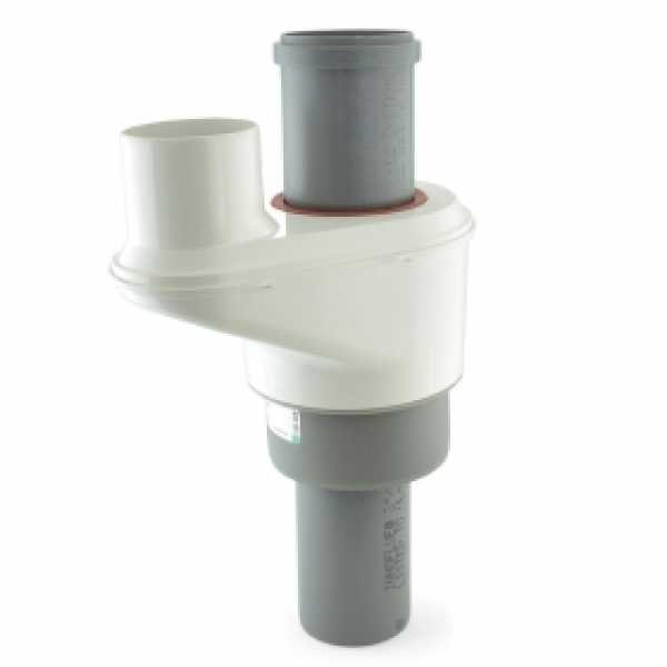 "3""/5"" Innoflue Concentric to 3"" Twin Pipe Adapter"