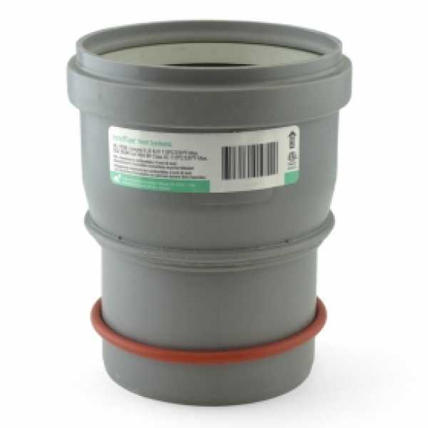 "4"" PVC (100/101mm) to 4"" Innoflue SW Appliance Adapter"