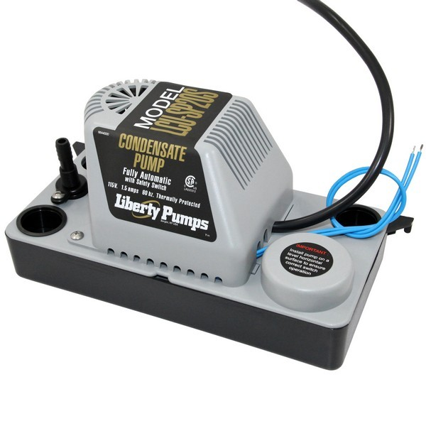 "Liberty Pumps LCU-SP20S 1/30 HP Automatic Condensate Removal Pump, Safety Switch, 115V, 6"" cord"