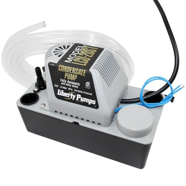 "Liberty Pumps LCU-20ST 1/30 HP Automatic Condensate Removal Pump, Safety Switch, 115V, 6"" Cord"
