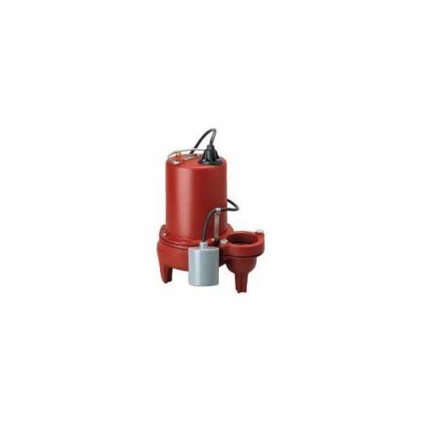 "Liberty Pumps LEH102A3 1 HP Auto Submersible Pump w/ Wide-Angle Piggyback Float Switch - 208/230v - 10 ft Cord - 3"" Dischar"