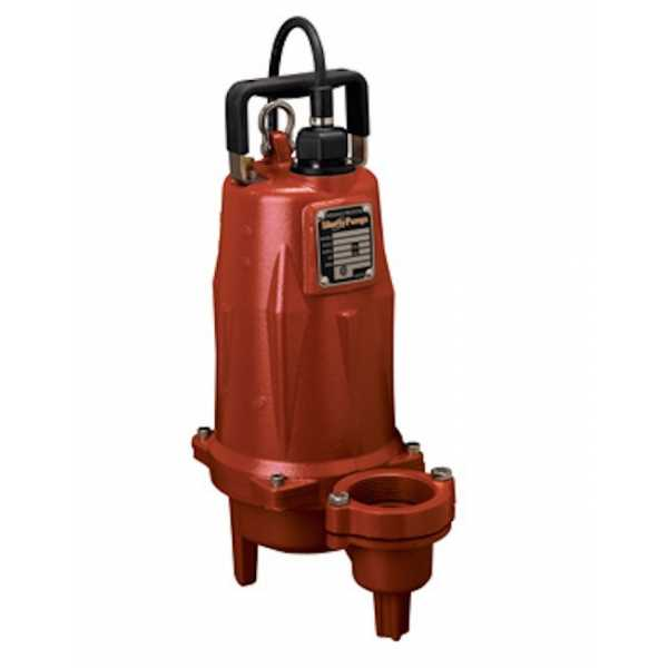 "Liberty Pumps LEH202M2-2 2 HP Manual Sewage Pump, 208V ~ 240V, 25"" cord"