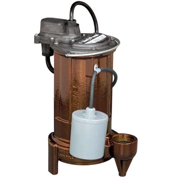 "Liberty Pumps 281-2 1/2 HP Automatic Sump / Effluent Pump w/ Wide Angle Float Switch, 110V ~ 120V, 25"" cord"
