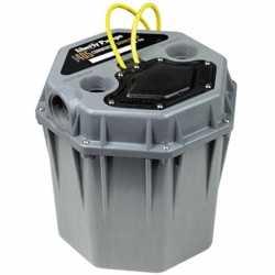 "Automatic Commercial High-Head, High Temp (180F) Drain Pump w/ 5.5 gal Basin, 2"" Connections, 10' cord, 1/2HP, 115V"