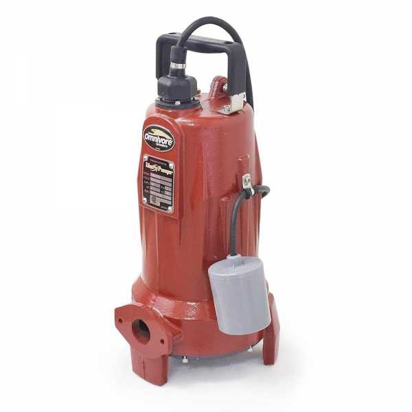 """Liberty Pumps LSG202A 2 HP Automatic Grinder Pump w/ Piggyback Wide Angle Float Switch, 208V ~ 240V, 25"""" cord"""