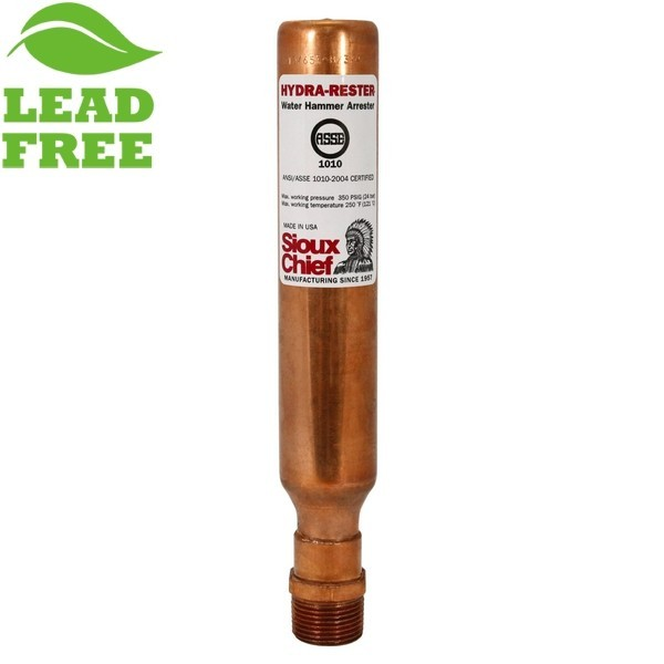 """Sioux Chief 653-B Hydra-Rester Commercial Water Hammer Arrestor, 3/4"""" MIP"""