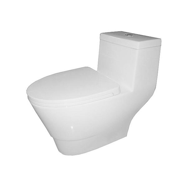 Fine Fixtures MOTB12W Modern Style One Piece Toilet - Dual Flush