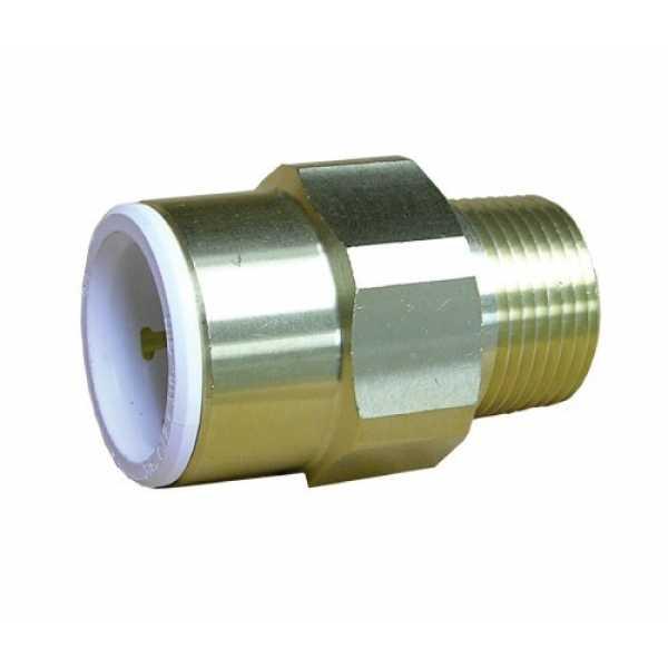 """John Guest MWI012026LF 1/2"""" CTS x 3/4"""" NPT Speedfit Brass Male Connector (Low Lead)"""