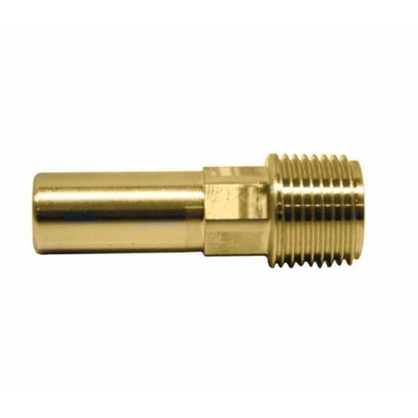 "John Guest MWI052826 3/4"" CTS x 3/4"" NPT Speedfit Brass Male Stem Adapter"