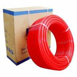 "Everhot NPR3450 3/4"" x 500 ft PEX Plumbing Pipe, Non-Barrier (Red)"