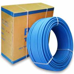 """1/2"""" x 100 ft. PEX Plumbing Pipe, Non-Barrier (Blue)"""