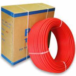 """1/2"""" x 100 ft. PEX Plumbing Pipe, Non-Barrier (Red)"""