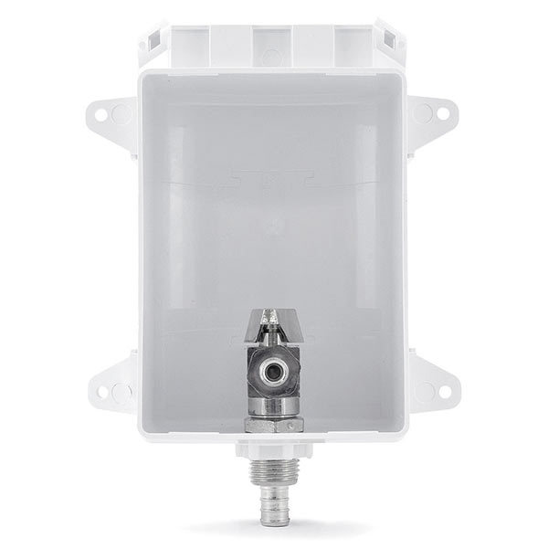 """Ox Box Icemaker Outlet Box, 1/2"""" PEX (Lead-Free)"""