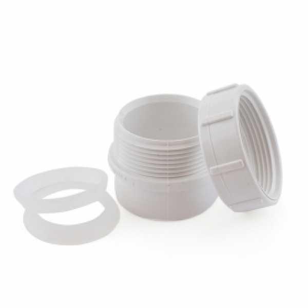 "1-1/2"" PVC DWV Male Trap Adapter w/ Plastic Nut & (2) Washers"