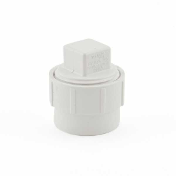 """1-1/2"""" PVC DWV Cleanout Adapter (Spigot) w/ Plug"""