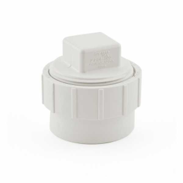 """2"""" PVC DWV Cleanout Adapter (Spigot) w/ Plug"""