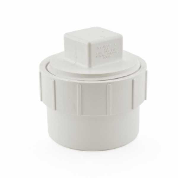 """3"""" PVC DWV Cleanout Adapter (Spigot) w/ Plug"""