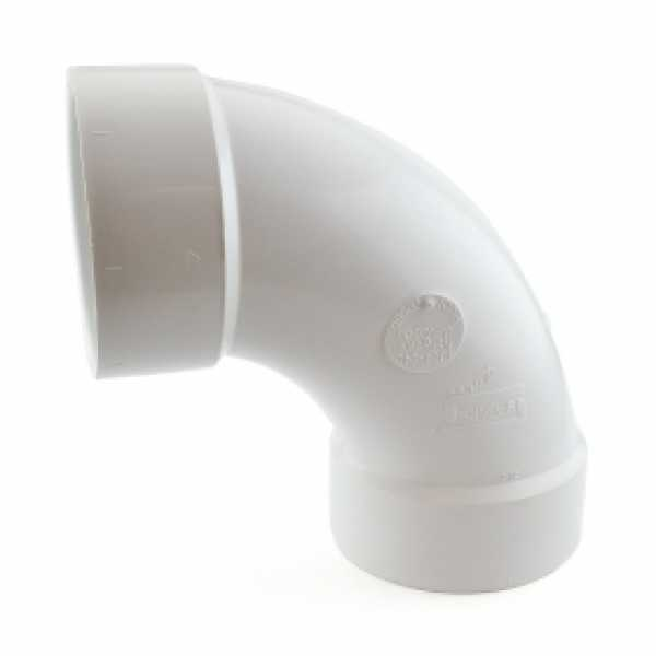 "4"" PVC DWV 90° Long Turn Elbow"