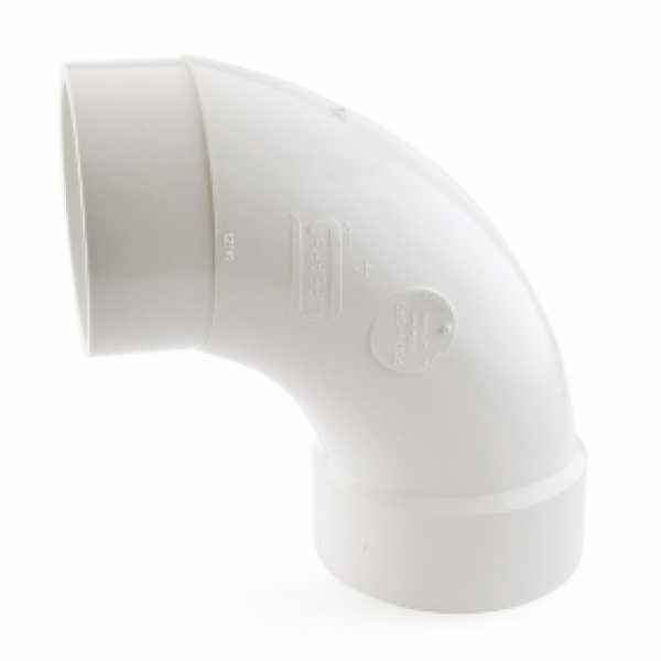 "4"" PVC DWV 90° Long Turn Street Elbow"