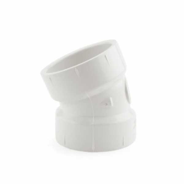 """1-1/2"""" PVC DWV 22.5° Elbow"""