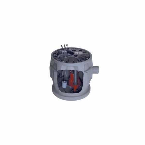 "Liberty Pumps P382XLE51 1/2 HP Sewage Pump System - 115v - 2"" Discharge - 24"" x 24"" Basin"