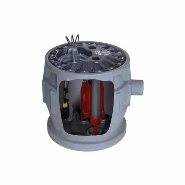 """Liberty Pumps P382XPRG102-2/A2 380 Residential Simplex Grinder Package 230V 25"""" Cord with Alarm"""