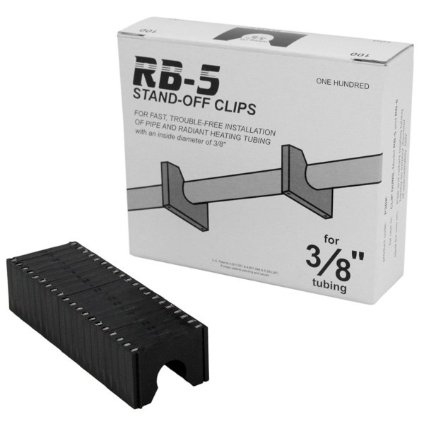 """Stand-off Clips for 3/8"""" PEX (100/box)"""