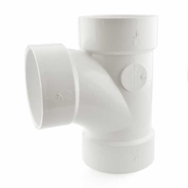 "4"" PVC DWV Sanitary Tee"