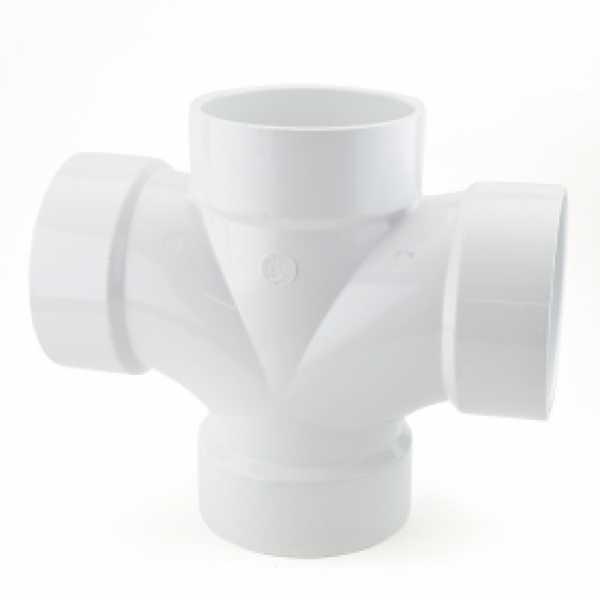 """4"""" PVC DWV Double Sanitary Tee"""