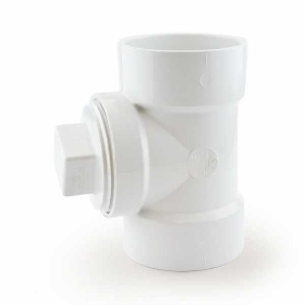 "3"" PVC DWV Cleanout Tee w/ Plug"