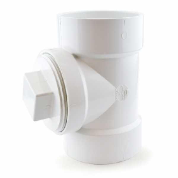 "4"" PVC DWV Cleanout Tee w/ Plug"