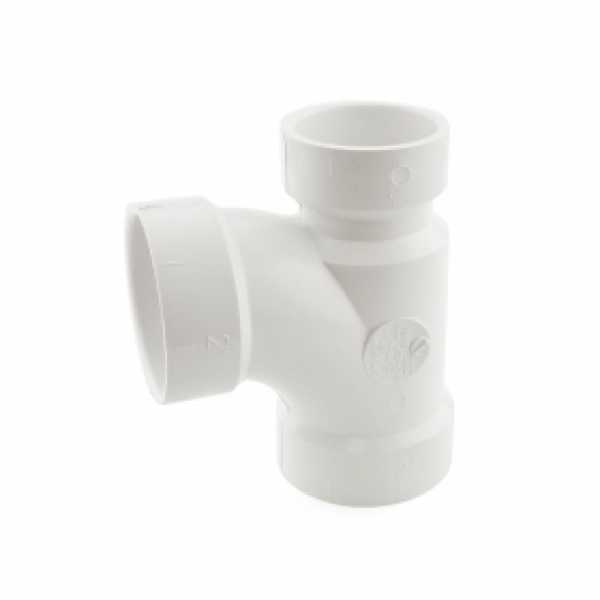"2"" x 1-1/2"" x 2"" PVC DWV Sanitary Tee"