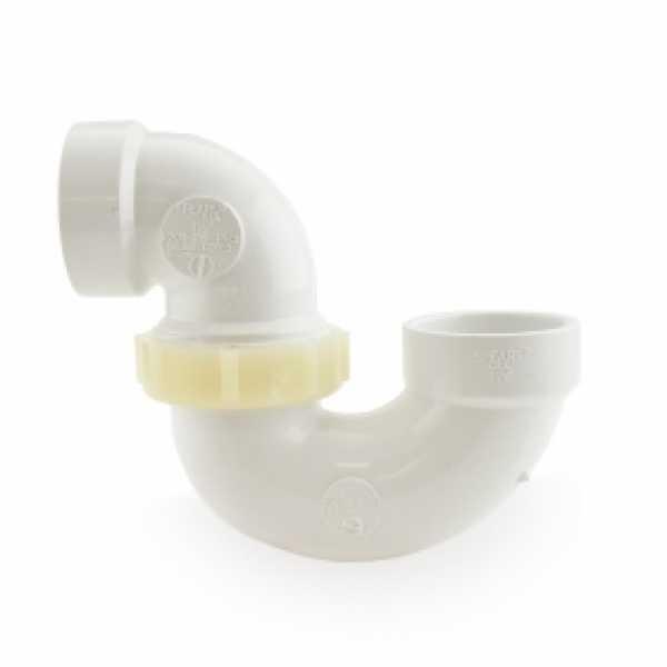 "1-1/2"" PVC DWV P-Trap w/ Plastic Nut"