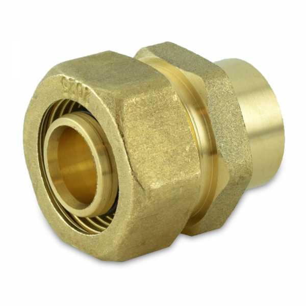"3/4"" PEX-AL-PEX Compression x 3/4"" Female Sweat Adapter"