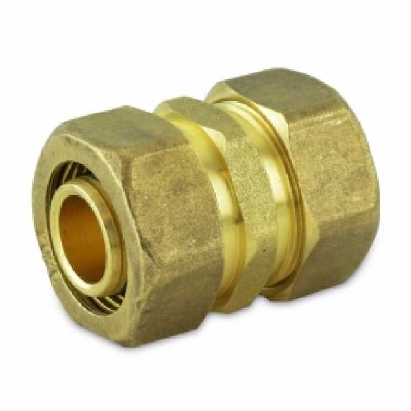"3/4"" x 3/4"" PEX-AL-PEX Compression Coupling"