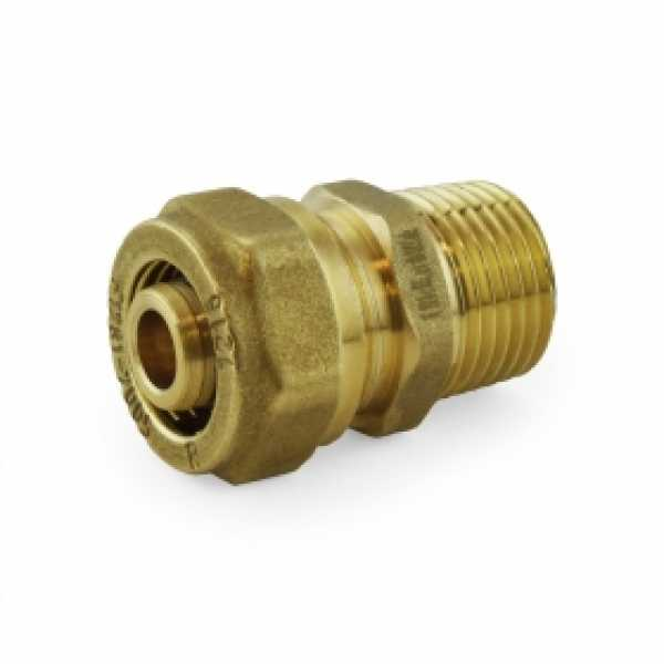 "1/2"" PEX-AL-PEX Compression x 1/2"" Male Threaded Adapter"