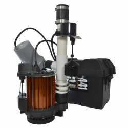 Sump Pump Combo (1/3HP Sump Pump & 12V Battery Sump Pump) Back-up System, 115V