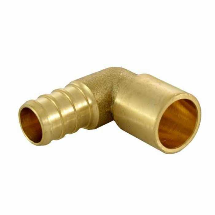 1 2 pex x 1 2 copper pipe elbow plumbing supplies for Copper vs plastic pipes
