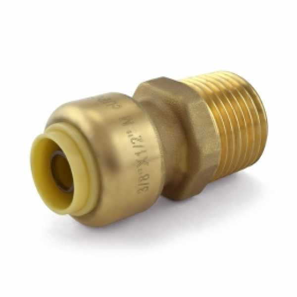 """3/8"""" Push To Connect x 1/2"""" MNPT Adapter, Lead-Free"""