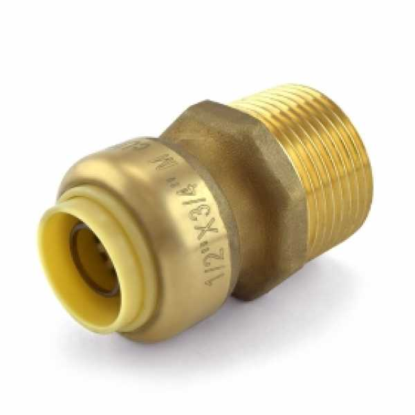 "1/2"" Push To Connect x 3/4"" MNPT Adapter, Lead-Free"